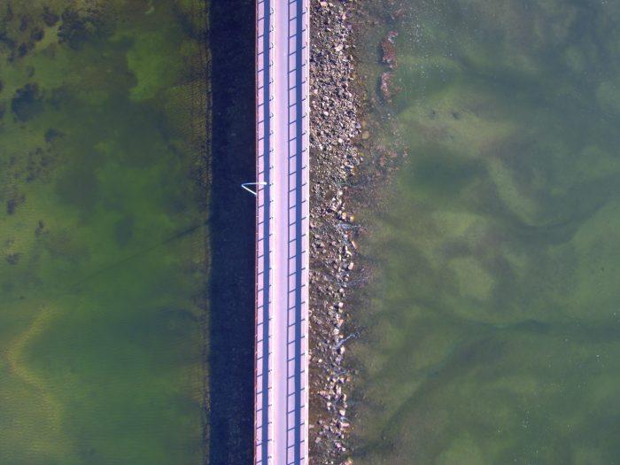 Port Pirie bridge from drone