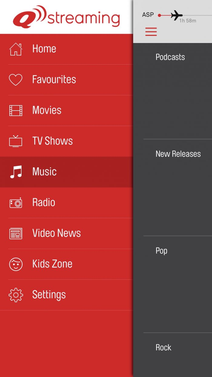 Qantas streaming app design