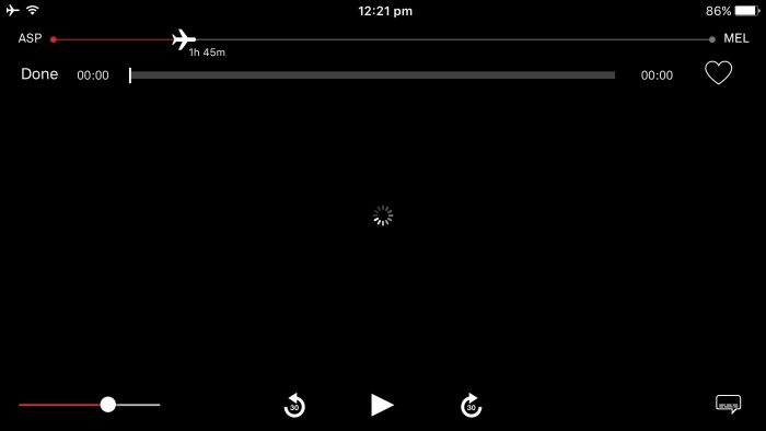 Qantas streaming app loading issues