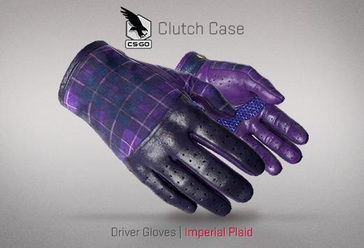 Clutch case Driver Gloves Imperial plaid