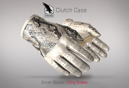 Clutch case Driver Gloves King Snake