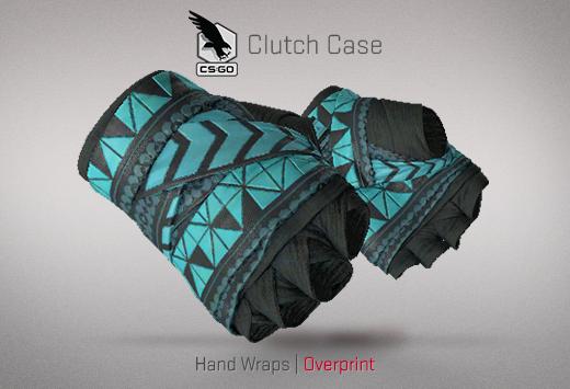 Clutch case Hand Wraps Overprint