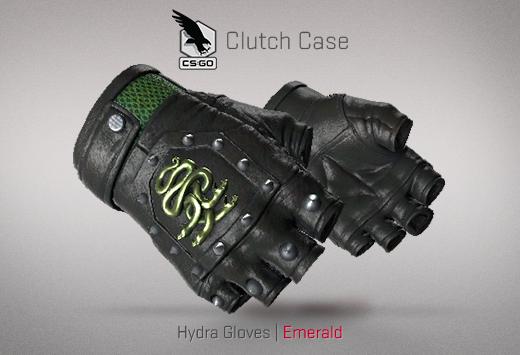 Clutch case Hydra Gloves Emerald