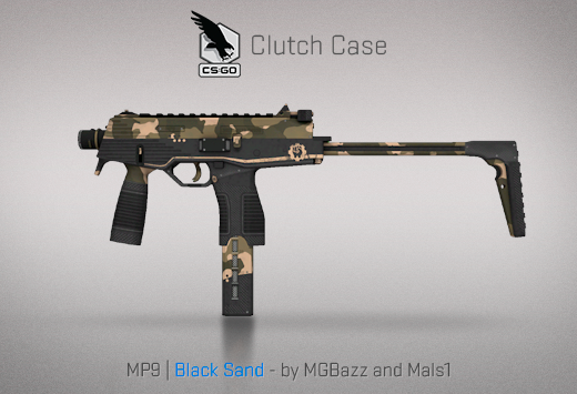 Clutch case MP9 Black Sand