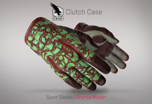 Clutch case Sports Gloves Bronze Morph