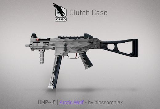 Clutch case UMP-45 Artic Wolf