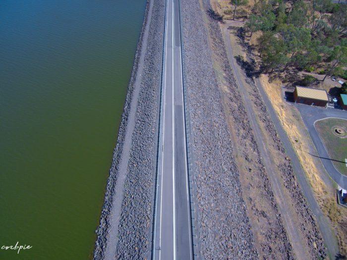 Lake Eppalock dam wall road 3