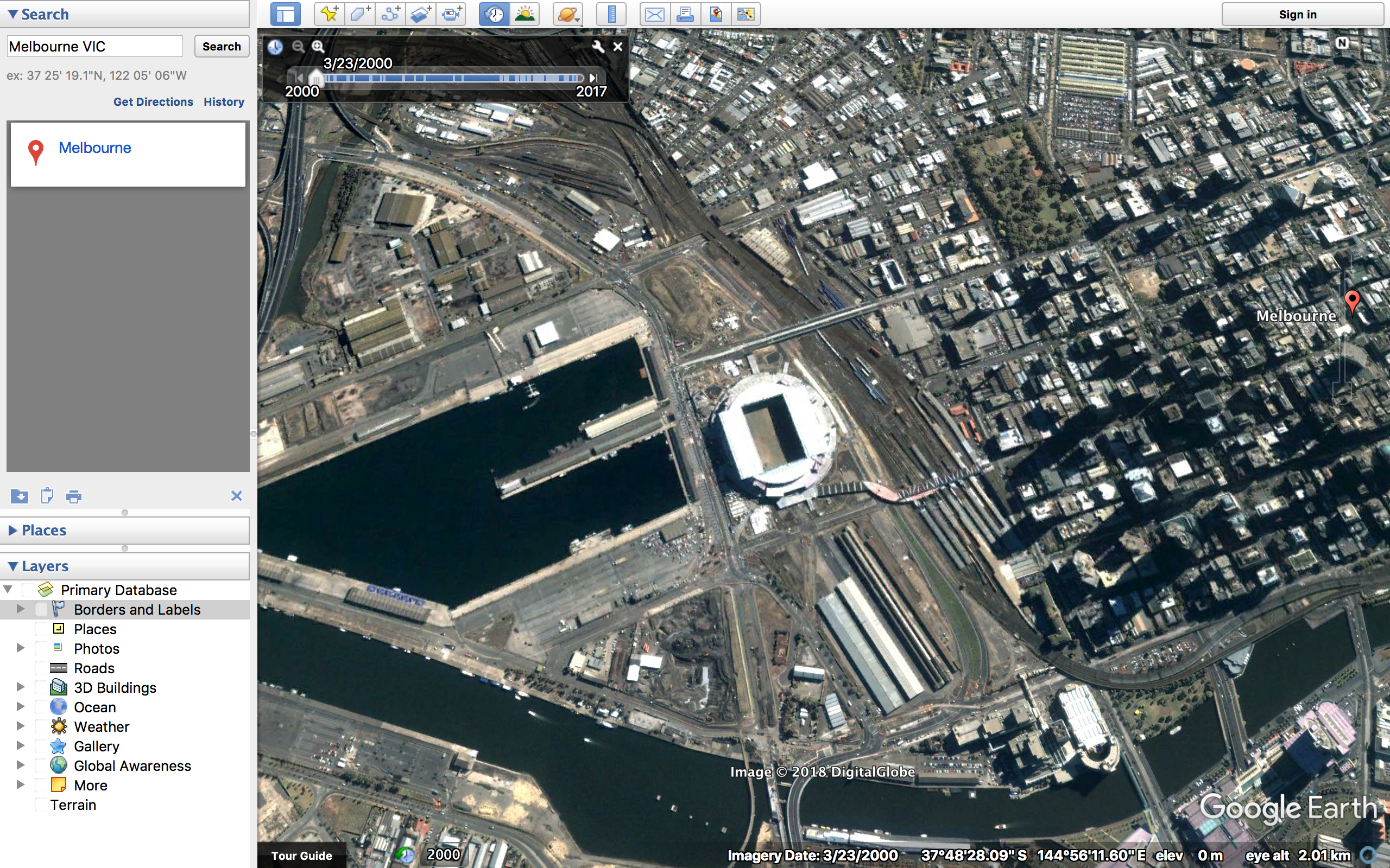 How to view older and archived satellite maps (Google maps ...