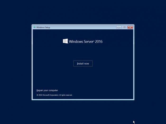 Server 2016 vnc install now