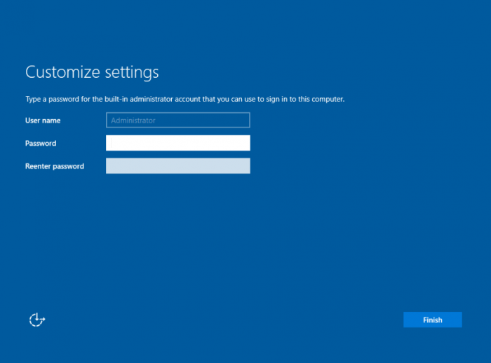Server 2016 vnc install set password