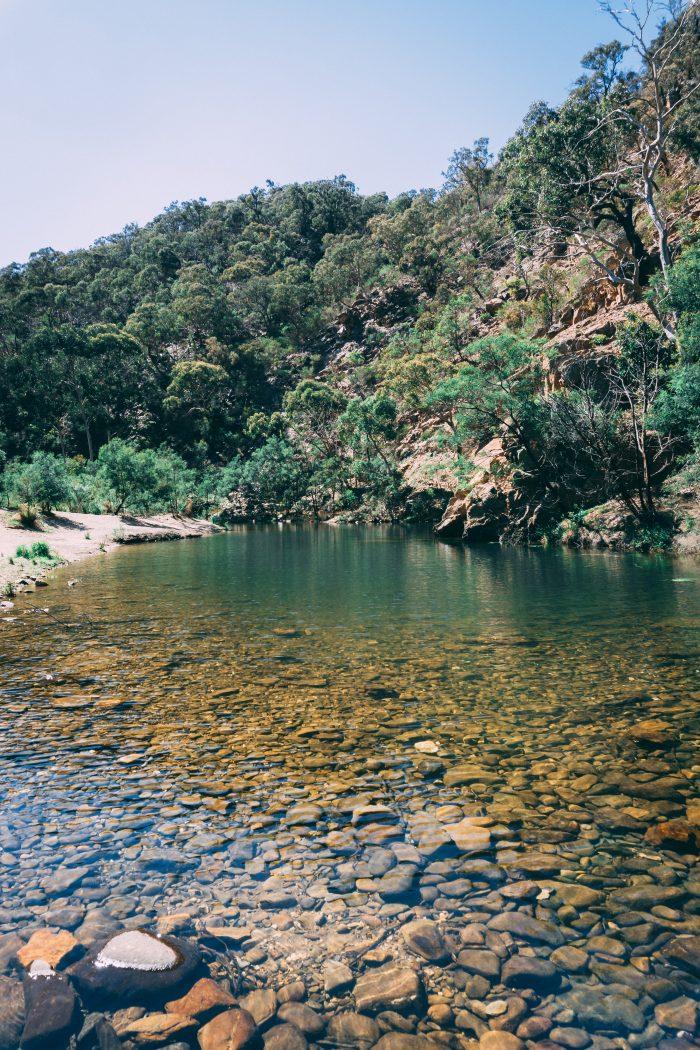 Grahams dam Lerderderg River 2