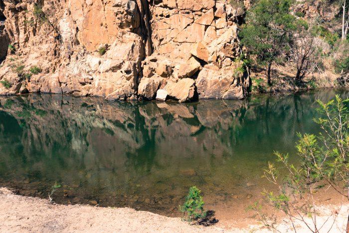 Grahams dam Lerderderg River 8