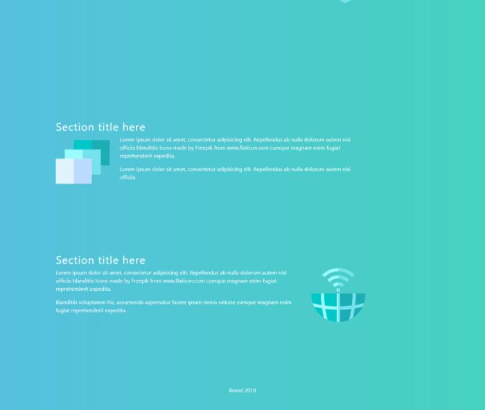 Modern Bootstrap design