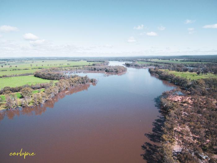 Laanecoorie Reservoir drone 7