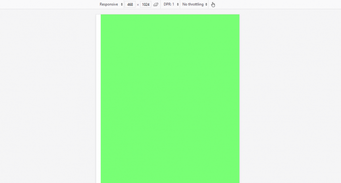 image for screen size green