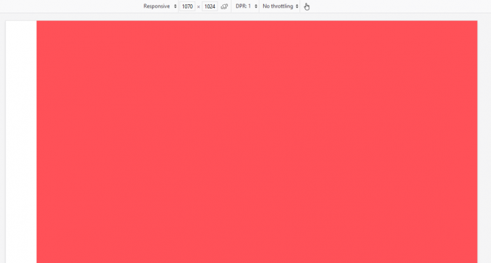 image for screen size red