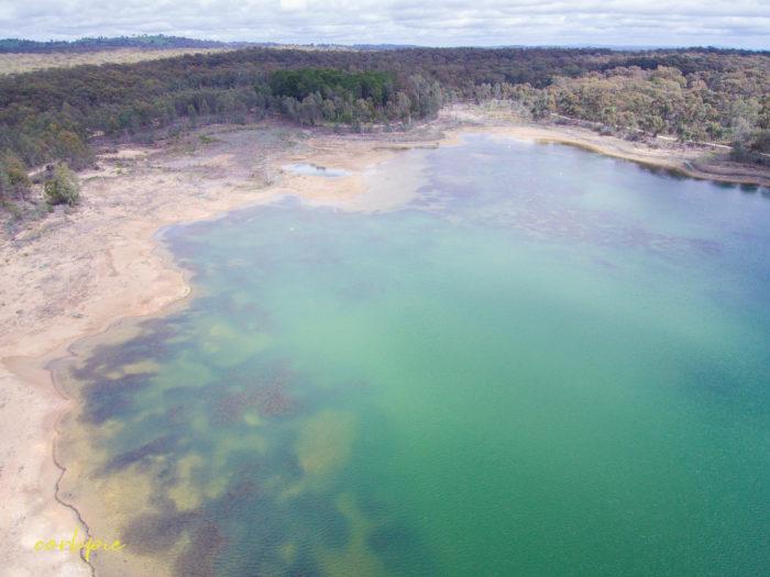 Upper end of Crusoe Reservoir Bendigo