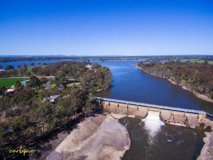 Goulburn Weir drone 10
