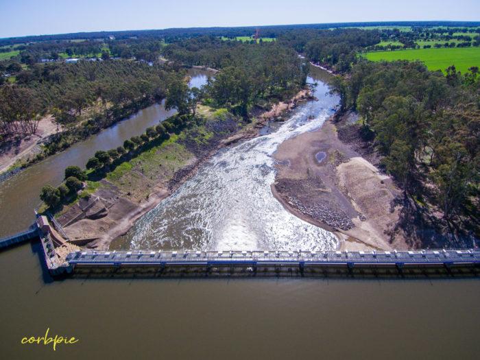 Goulburn Weir drone 11