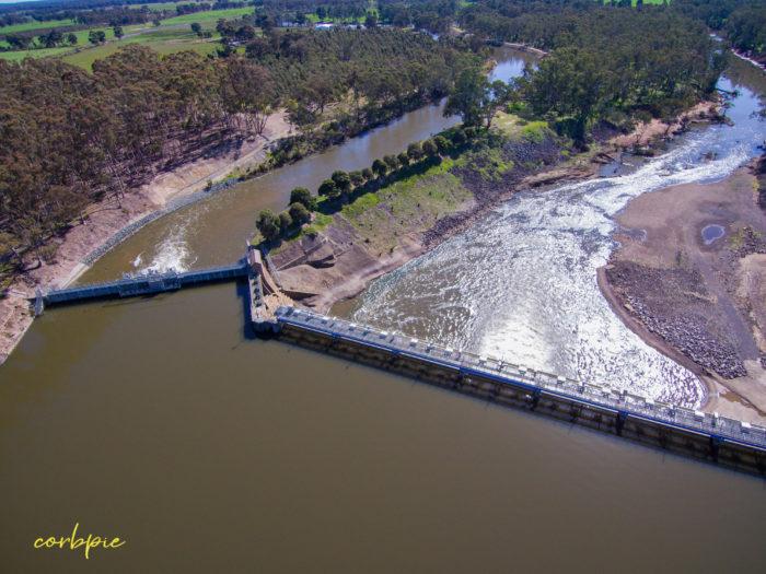 Goulburn Weir drone 12