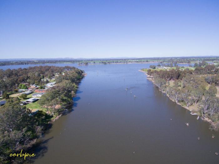 Goulburn Weir drone 13