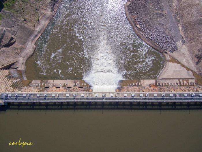 Goulburn Weir drone 14