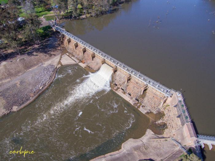 Goulburn Weir drone 15
