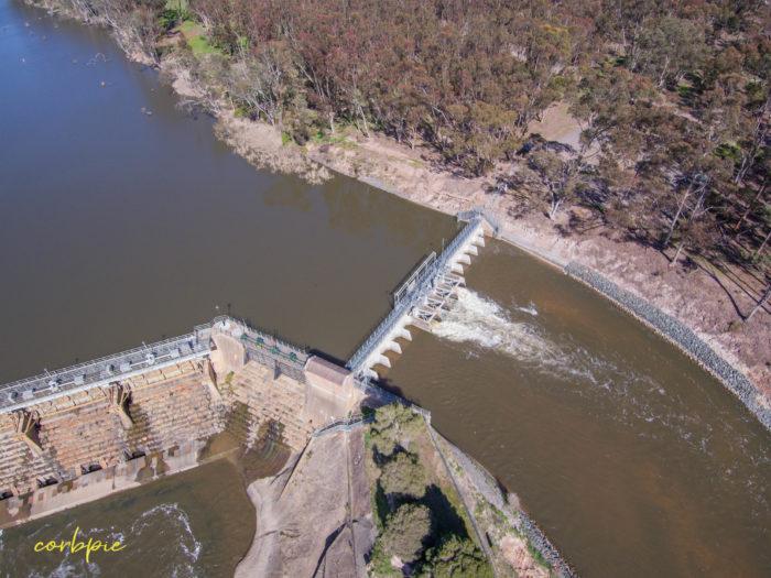 Goulburn Weir drone 16