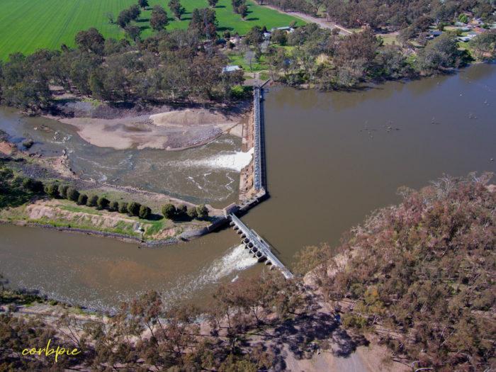 Goulburn Weir drone 17