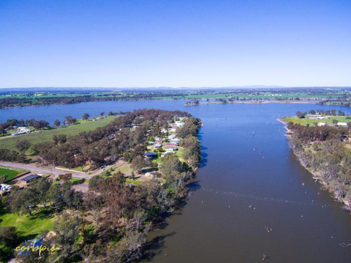 Goulburn Weir drone 4