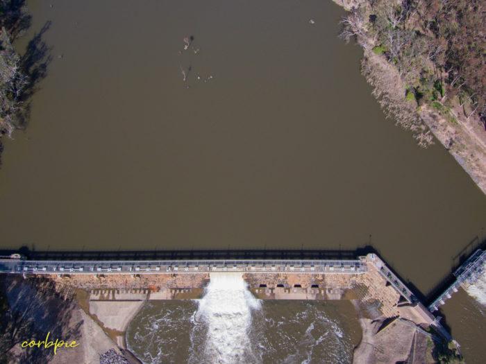 Goulburn Weir drone 5