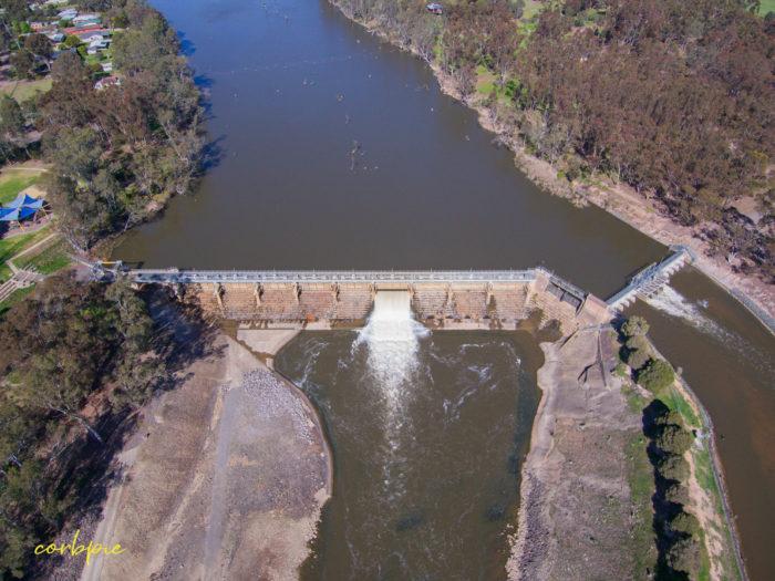Goulburn Weir drone 6