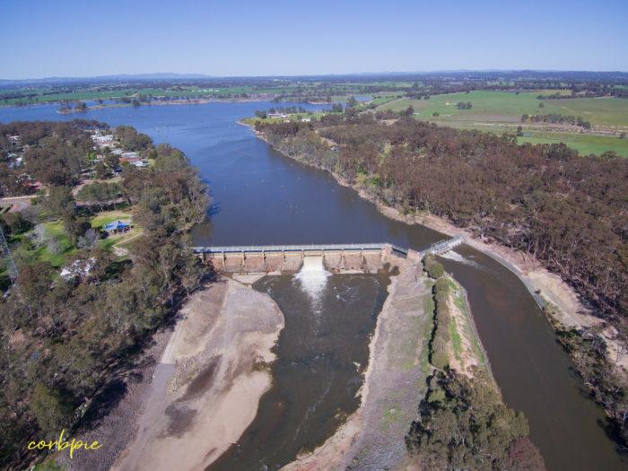 Goulburn Weir drone 7