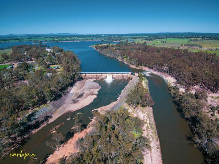Goulburn Weir drone 8