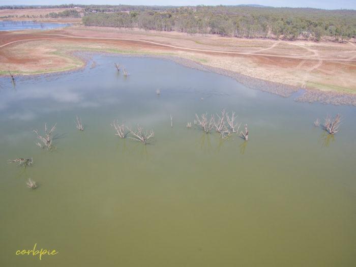 Point King Bay Lake Eppalock drone 13