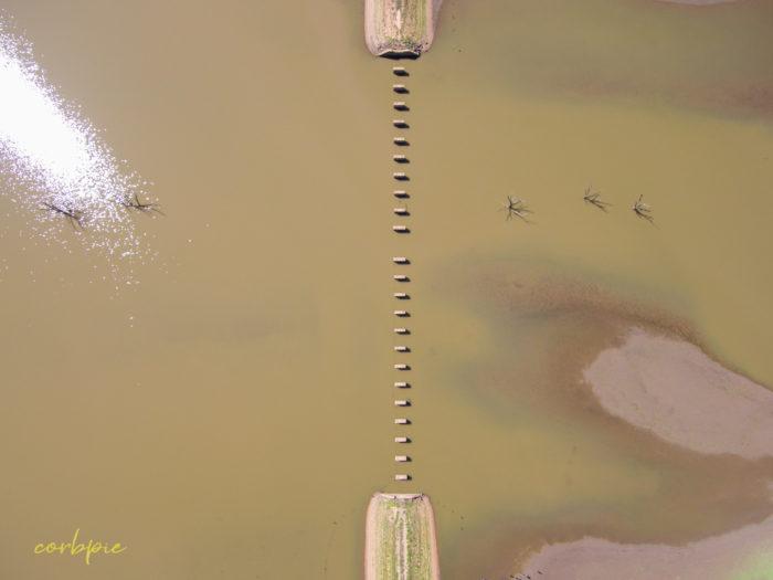 Cairn Curran old bridge drone 6