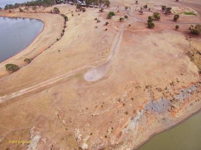 Derrinal Pool Lake Eppalock drone 23
