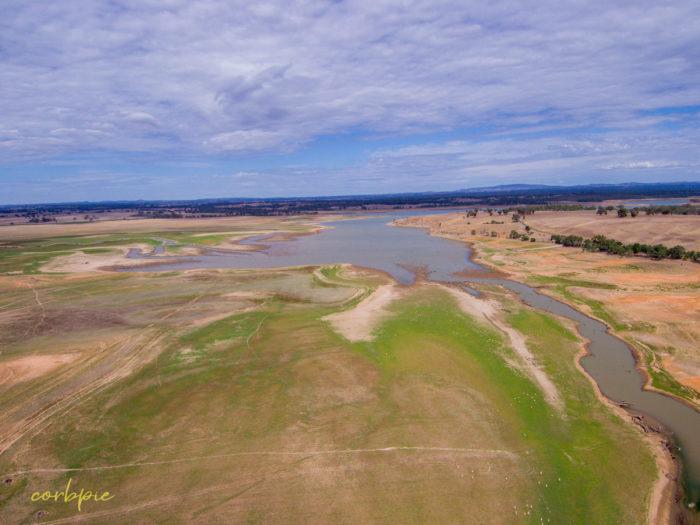 Derrinal Pool Lake Eppalock drone 9