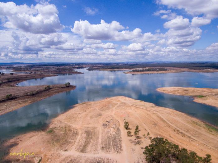 Lake Eppalock Strath Bay drone 1