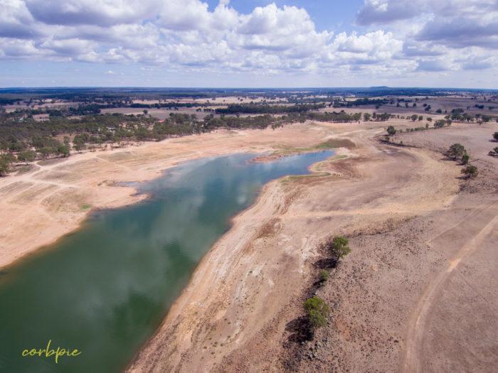 Lake Eppalock Strath Bay drone 14