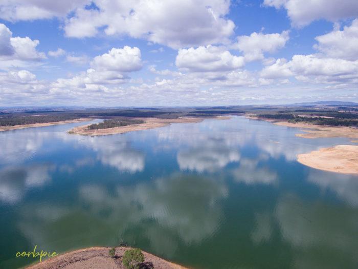 Lake Eppalock Strath Bay drone 15