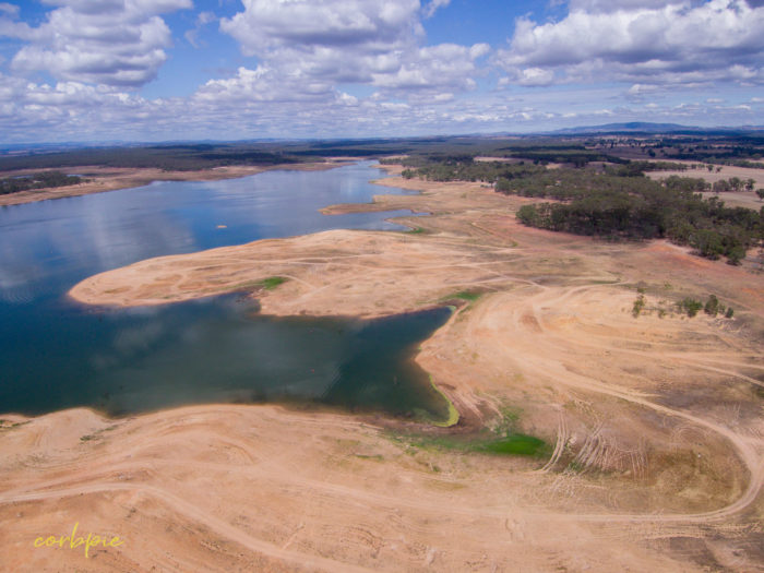 Lake Eppalock Strath Bay drone 23