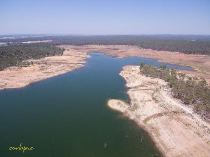 Meridan and Token Island Lake Eppalock drone 10