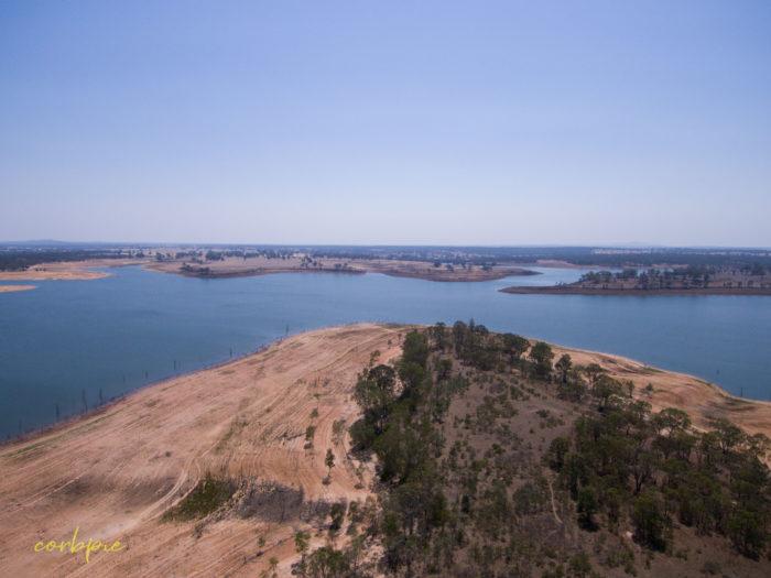 Meridan and Token Island Lake Eppalock drone 12