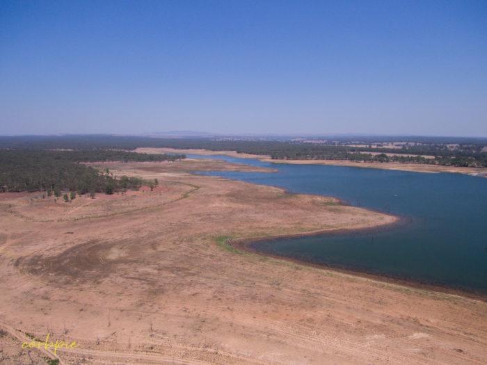Meridan and Token Island Lake Eppalock drone 13