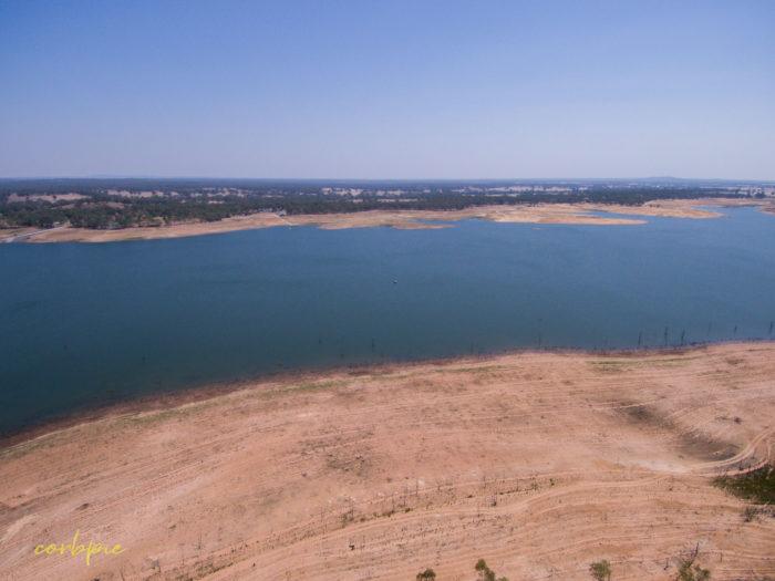 Meridan and Token Island Lake Eppalock drone 14