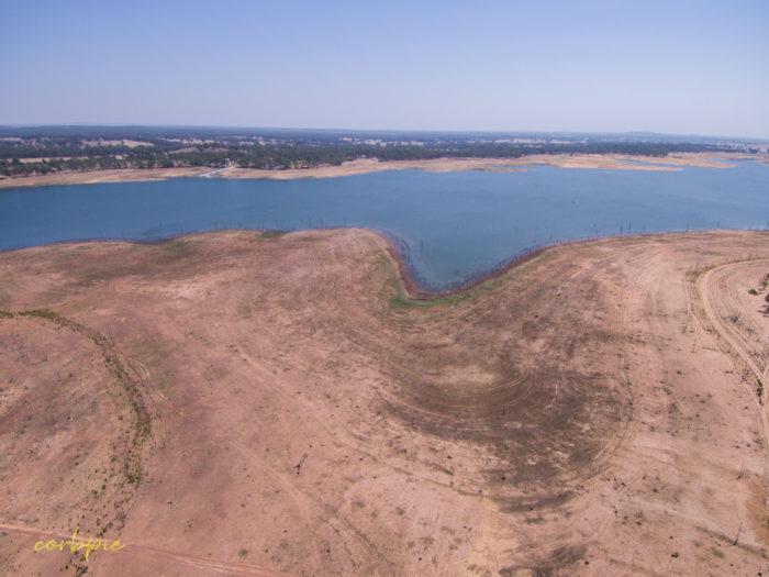 Meridan and Token Island Lake Eppalock drone 16