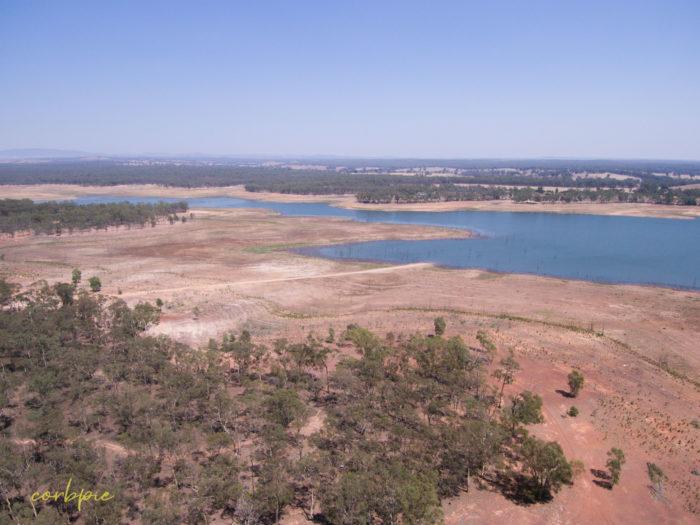 Meridan and Token Island Lake Eppalock drone 17