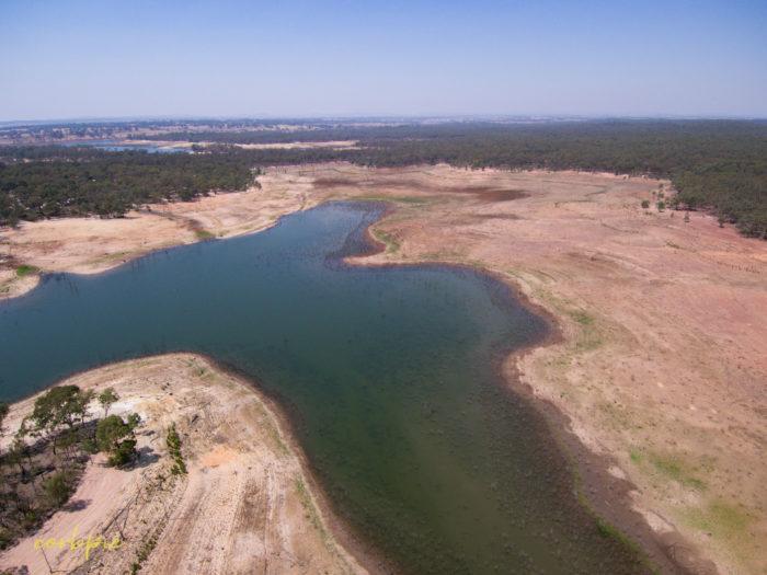 Meridan and Token Island Lake Eppalock drone 5