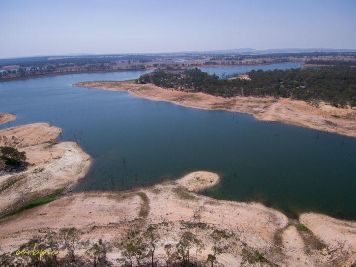 Meridan and Token Island Lake Eppalock drone 7
